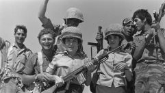 Israeli troops celebrating their victory in the Six Day War.