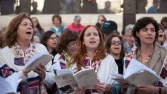 Supporting the Fight : Female lawmakers joined the Women of the Wall protests at the Western Wall in Jerusalem.