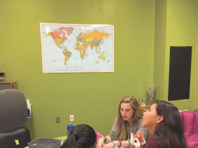 Learning From Her Students: Jessye Stein teaches geography to students at the Pine Ridge Girls School in South Dakota.