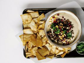 Happy hummus: Consider this the centerpiece of a very modern holiday meal.