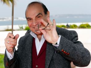 Actor David Suchet minus the Poirot mustache.