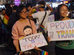 Protesters in Hanoi, 2015.
