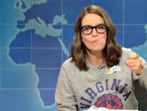 Tina Fey eats her feelings in the name of justice.