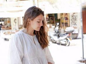Emily Berg, founder of Blue Box, at Levinsky spice market in Tel Aviv.
