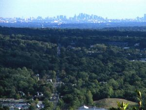 A bird's-eye view of Mahwah, New Jersey.