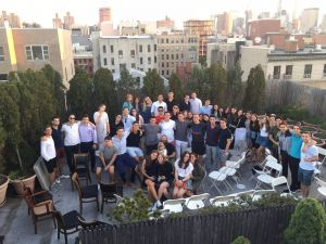 Jewish students at Chabad House Bowery.