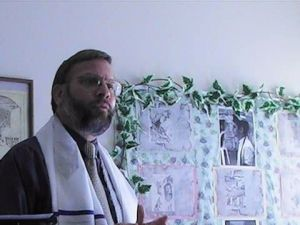 Thurlow Adams, dressed in tallit, goes by Rabbi Tziyon and leads a Messianic group in Ohio.