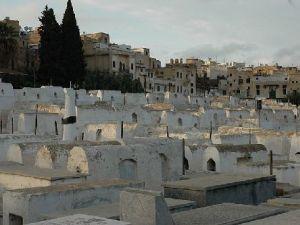 A cemetery Mellah, a Jewish quarter in Morocco.