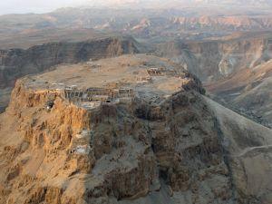 Masada, the ancient Israeli fortress overlooking the Dead Sea.