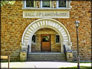 Benedict Hall of Languages at Hamilton College in Clinton, New York.