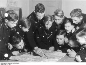Jungvolk was a Nazi youth party that featured outdoor activities to indoctrinate young boys.