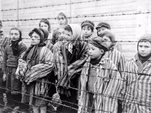 Child subjects of Dr. Josef Mengele's experiments were liberated from Auschwitz in 1945.
