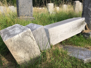 Around 60 headstones were toppled at the Ateres Knesseth Israel Cemetery in Hartford, Conn., causing more than $10,000 in damages.