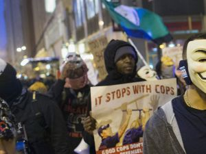 Chicago Cop Protest.
