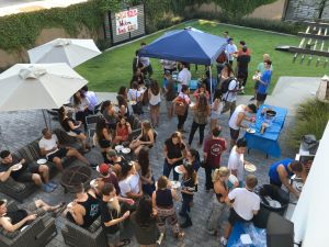 Jewish students at San Diego State University have a welcome-back barbecue at Hillel.