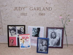 Empty Crypt: Judy Garland's memorial at Ferncliff in Hartsdale, New York.