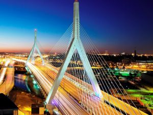 The Zakim Bridge in Boston, Massachusetts.
