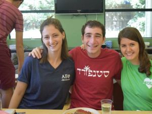 Jewish students at Stanford University Hillel.
