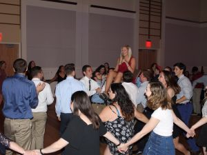 Jewish students celebrate Matza Ball 2017 at NC State.