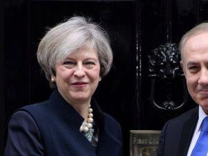 Israeli Prime Minister Benjamin Netanyahu meets with British Prime Minister Theresa May in London, February 6, 2017.