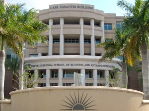 The DeSantis Building at Nova Southeastern University.