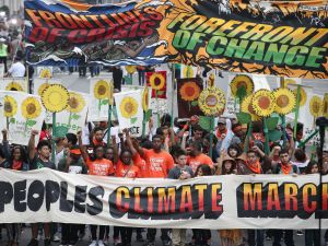 The 2014 People's Climate March in New York.