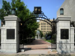 Professors Gate at George Washington University in Washington, D.C.