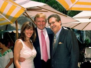 President Trump has nominated Robin Bernstein (L), a member of his Mar-a-Lago club, as ambassador to the Dominican Republic. Trump, Bernstein and her husband Richard are seen at a Mar-a-Lago event in 2000.
