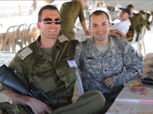 U.S. and Israeli soldiers join together during biennial air defense exercises.