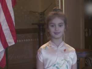 Big In China: Six-year-old Arabella Kushner has become a star in the People's Republic because of her love of singing in Mandarin.