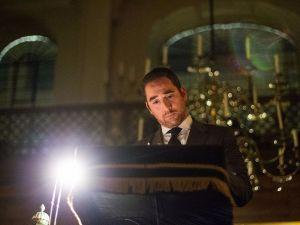 Rabbi Joseph Dweck, the chief Sephardic rabbi of the United Kingdom, speaks at a World War I remembrance ceremony.