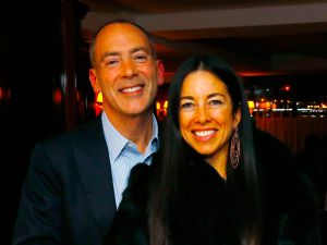 CEO of Croman Realty Steven Croman with his wife, Harriet Croman.
