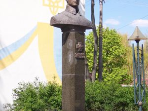 Monument to Symon Petliura in Rivne, Ukraine.