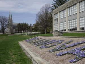 St. Thomas of Villanova Church and Dougherty Hall at Villanova University.