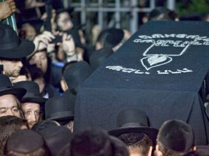 Little Leiby: Heartbroken Hasidic Jews mourn the death of Leiby Kletzky in Boro Park, Brooklyn.