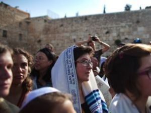 Women of the Wall gathered at the Kotel in May.