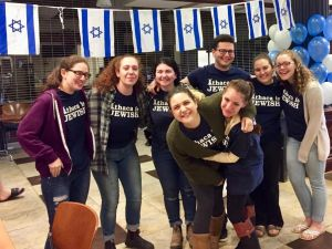 A Yom Ha'atzmaut celebration at Ithaca College.