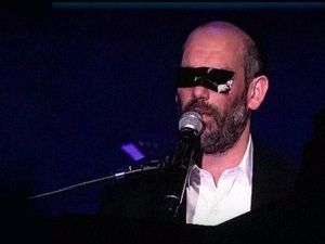 Image result for Orthodox Israeli singer covers his eyes with tape at concert to avoid seeing women dance