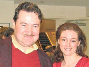 Readers: Allen Lewis Rickman (left) and Yelena Shmulenson.