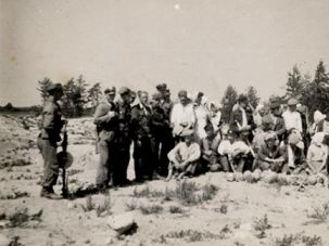 ?Golden Harvest?: Polish peasants with skeletal remains at Treblinka, where Gross said they dug for gold and jewels in the killing fields. Gross said the photograph was the starting point for his new book.