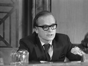 Early Days: Alan Greenspan testifies before House Senate Economic Committee in 1975.