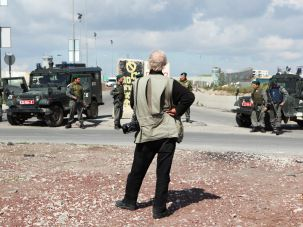 Josef Koudelka in Qalandia Checkpoint
