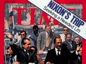 Nixon and Sadat, Time Magazine cover.