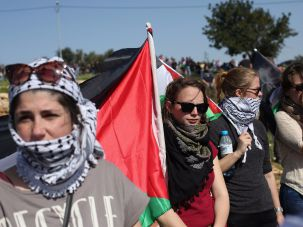 Anti-settler protest.