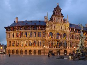 Grote Market in Antwerp, Belgium's Flemish capital.