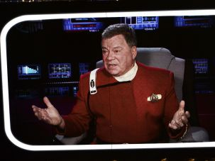 William Shatner as Captain Kirk in 'Star Trek.'