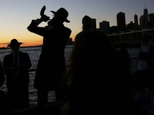Shofar Away: Orthodox Jews ring in the new year.
