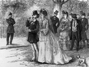 A wedding in nineteenth century France.