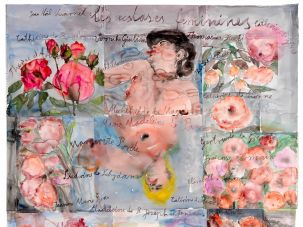 ANSELM KIEFER Les extases féminines (The Feminine Ecstasies), 2013 Watercolor on paper 65 3/4 × 60 5/8 inches (167 × 154 cm)