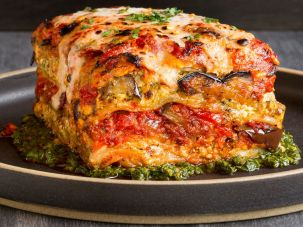 Vegan lasagna. Need we say more? Tal Ronnen's version with grilled eggplant, roasted red bell pepper, and zucchini cuts the carbs and calories and adds a boost of nutrition, too.